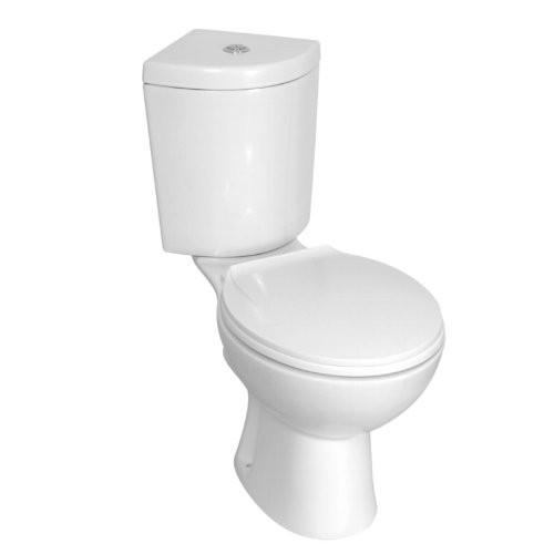 toilette stand wc kombination komplettset wei f r eckeinbau. Black Bedroom Furniture Sets. Home Design Ideas