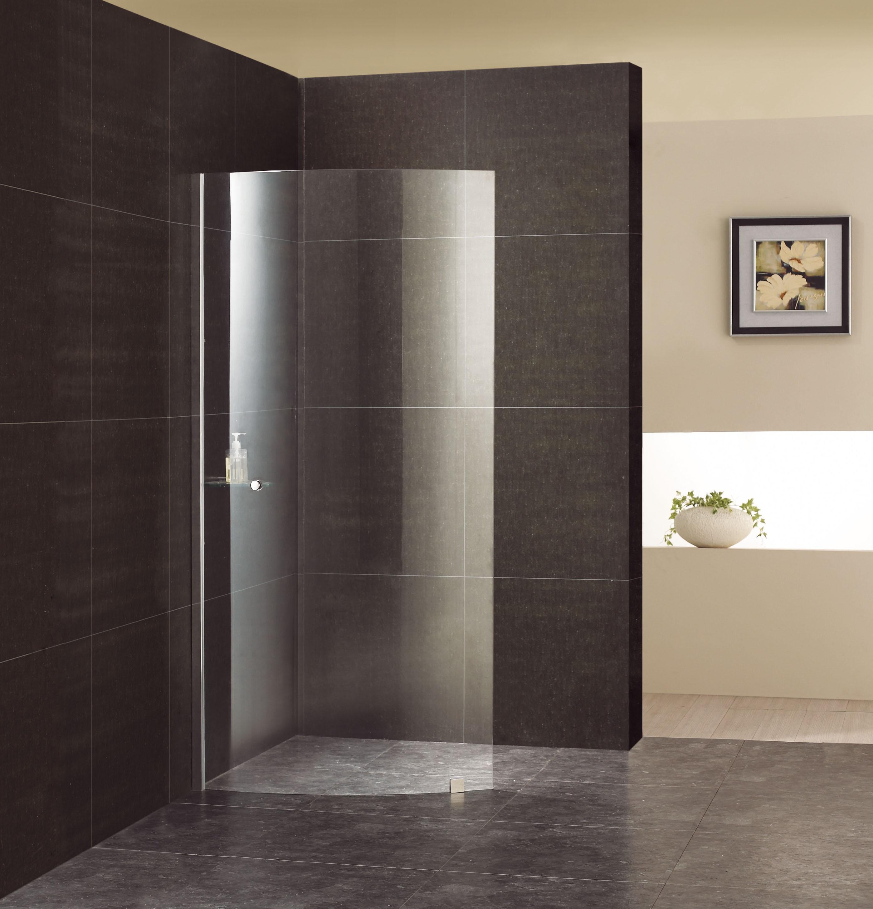 duschwand kasiopeian walk in klarglas rundelement linksbefestigung. Black Bedroom Furniture Sets. Home Design Ideas