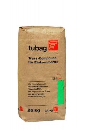 TUBAG Trass Compound für Einkornmörtel TCE 25kg, Terrassen, Balkon, Garten, Pflaster