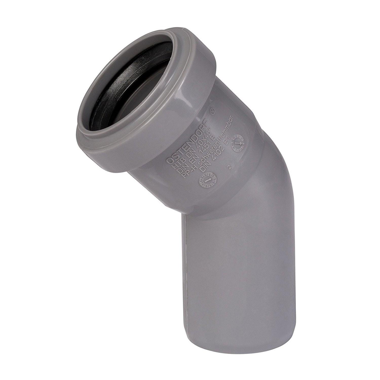 2x HT Rohr 45 ° DN 40 Abwasserrohr Abflussrohr Installation HT-Rohr Bogen