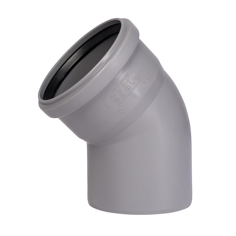 HT Rohr 45 ° DN 100 Abwasserrohr Abflussrohr Installation HT-Rohr Bogen