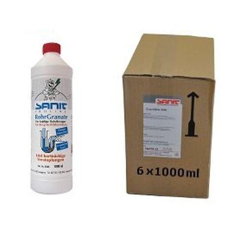 SANIT Rohrreiniger RohrGranate flüssig 6 Flaschen á 1000ml