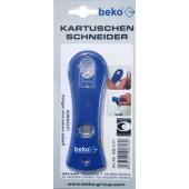Beko Kartuschenschneider blau eingeskinnt mit Euroloch