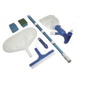 Steinbach Poolreinigung Grundreinigungsset für jedes Schwimmbad Mehrfarbig, 7-teilig