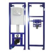 WC und Waschtisch Vorwandelemente Set inkl. Schallschutzsets, 2 Eckventile und Testpäckchen mit WC-Reinigertabs