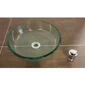 Design Aufsatzwaschbecken Waschbecken Waschtisch Glaswaschbecken Glas INKL. KLICKERVENTIL