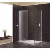 Duschwand Tolimano 6 Walk In zwei gerade Elemente Klarglas