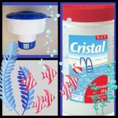 SPAR SET Cristal MultiTabs 20g 1kg 5in1 Dosierschwimmer POOL SET