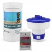 SPAR SET 5 MultiTabs 200g 1kg 5in1 Dosierschwimmer Testkit Testtabletten POOL SET