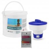 SPAR SET 7 MultiTabs 200g 5kg 5in1 Dosierschwimmer Testkit Testtabletten POOL SET